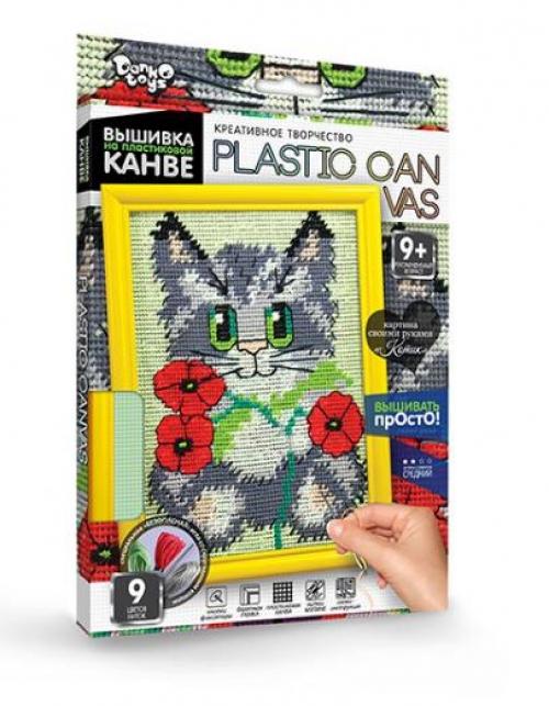 09100  Набор для вышивки на пластиковой канве PLASTIC CANVAS, данко тойс 2