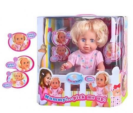Кукла сенсорная RT 05065, двигает руками и головой, звуковые эффекты, на батарейках.