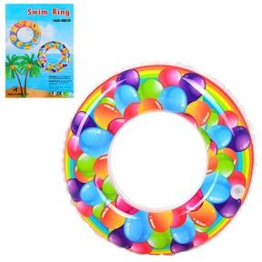 25576  Круг D25576 (100шт) шарики, 60см, от 3-х лет, в кульке, 14-17-0,5см