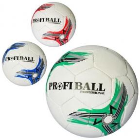 2500-119  Мяч футбольный  размер 5, ПУ1,4мм, ручная работа, 32панели, 400-420г, 3цв,