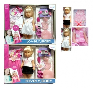 013-1/2  Кукла функц 4 вида,муз,пьет/пис,горш,тарел,лож,бут,одеж,расческа,акс в к