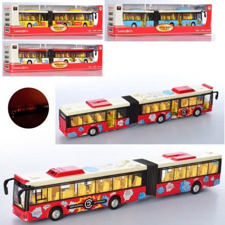 6012  Автобус металл, инер-й,36см,муз,зв,св, двери открыв.4цв, бат(таб), в кор-ке, 40-9