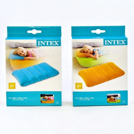 68676  Надувная подушка, цветная / Intex /  2 цвета ,43*28*9см