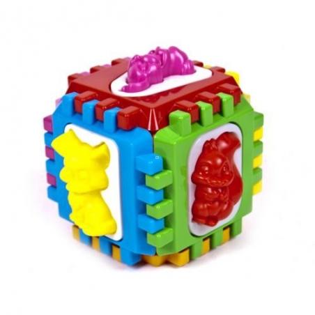 50-102 Логический  куб  сортер  с  животными