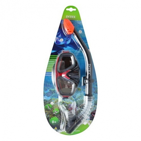 55949   Набор для плавания  маска,трубка(55975, 55928),детская серия,от 8лет,в слюде,22-4