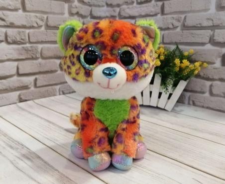 1021  Мягкая игрушка  глазастики леопард 23 см