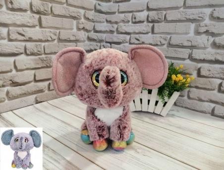 1020  Мягкая игрушка  глазастики слон 25 см