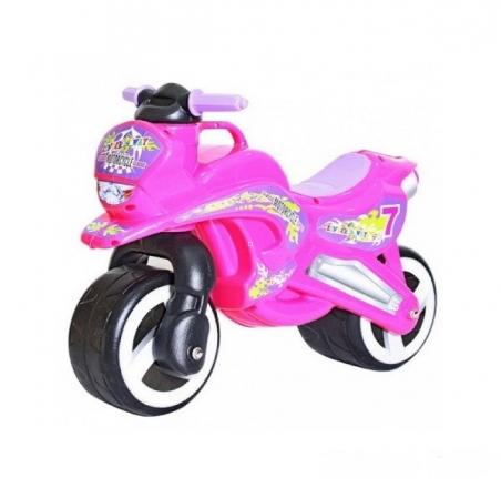 11-006  /розовый/ Каталка Мотоцикл  музык