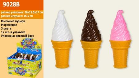 9028 в  Мыльные пузыри мороженое 12 шт