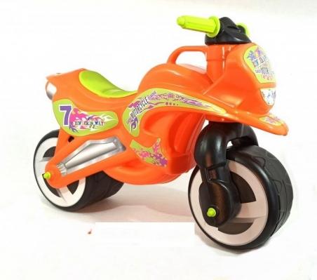 11-006  /оранж/ Каталка Мотоцикл  музык